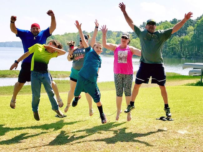 Arms Raised Limb Full Length Human Arm Human Limb Jumping Mid-air Cheerful Friendship Vitality Fun Happiness Motion Sky Sport Enjoyment Hand Raised Togetherness Arms Outstretched Leisure Activity Martin Lake State Park 3XSPUnity Check This Out Christian Kustomz Outdoors