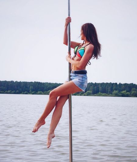 People And Places Water Young Women Summer Poledance Poledancesport