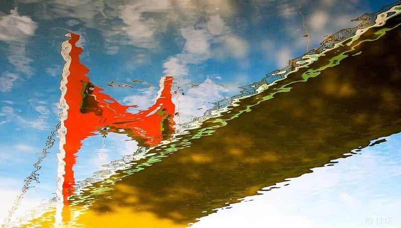 Reflejos de colores. Bilbao Reflejos Reflections Water Reflection