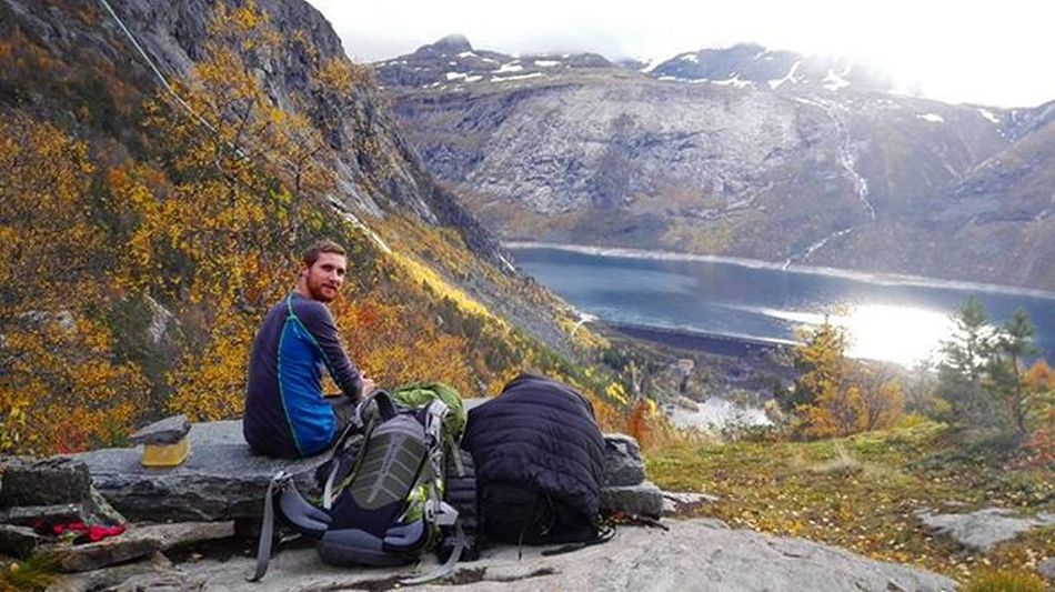 Weekend hiking trip with my brother @foreverstighansen Photo by @foreverstighansen Norway Ilovenorway Water Ferryride Sun Sea Weekend Trip Hiking Adventure Adventuretime Trolltunga Mountain Mountaintop Brother Fjeld Nordsøen Livoggladedage Happytimes Friluftsliv Friluftsåret2015 Nature Fall