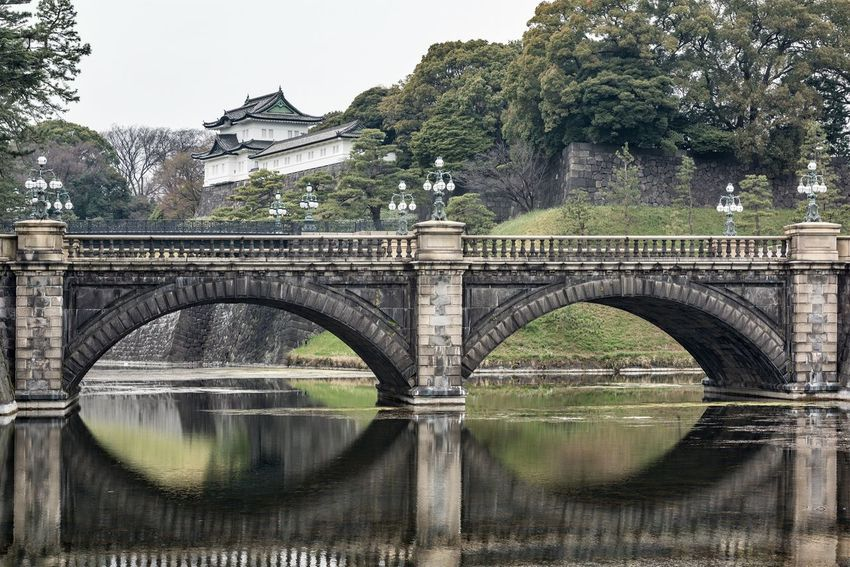 Imperial Palace Tokyo Bridge - Man Made Structure Arch Water Tree Reflection Architecture Built Structure Day No People Outdoors Nature Imperial Palace Tokyo Tokyo Japan Photography