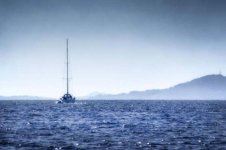 Water Sea Nautical Vessel Waterfront Sky Scenics - Nature Beauty In Nature Sailboat No People Non-urban Scene Day