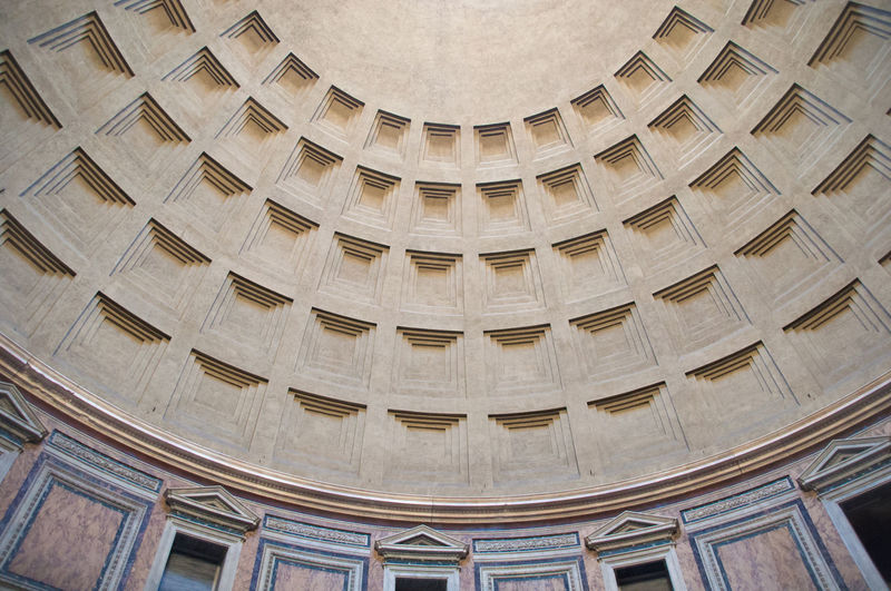 Low angle view of pantheon ceiling
