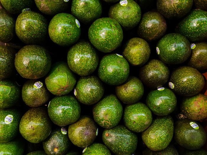 Full frame shot of avocados for sale
