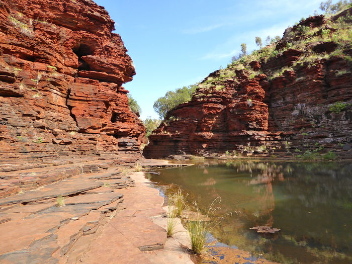 Beauty In Nature Bush Walking Canyon Eroded Errosion Geology Gorge Landscape Layered Nature Rock Formation Sandstone Tranquility Tranquility Is Loud Here! Travel Destinations Water Water Power Eroded The Mudstone