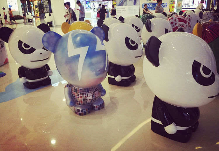 Panda Art On Display  Colorful Cute Toys Streetart Popular Photos