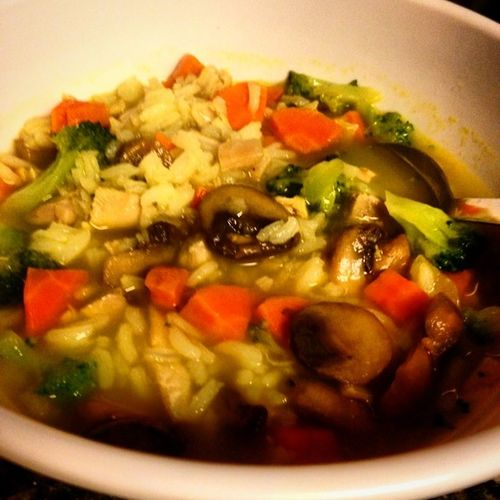Homemade chicken and rice soup (I made it from left overs) :) Sortedfood Eyecandysorted