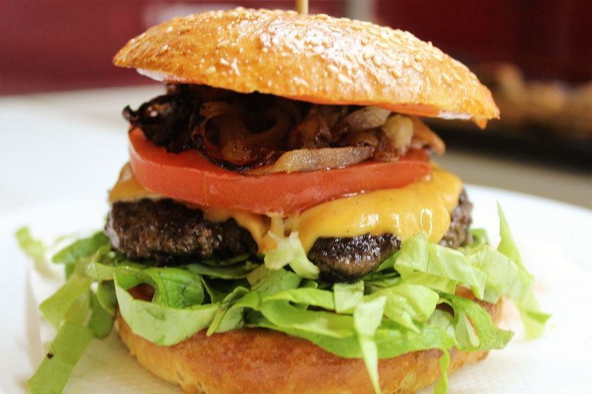 Bun Burger Cheese Close-up Day Focus On Foreground Food Food And Drink Freshness Hamburger Indoors  Lettuce No People Ready-to-eat Sandwich Seed Sesame Seed Vegetable