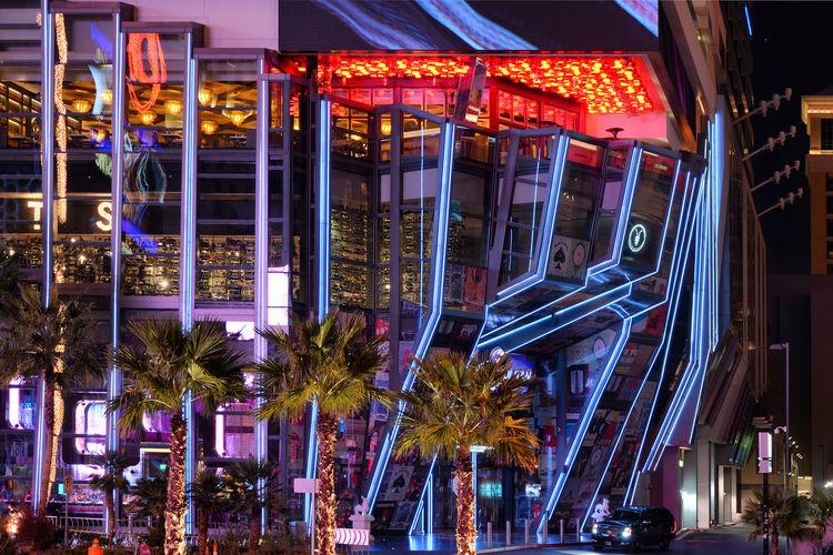 Spots & Lines Architecture Night City Urban Light Glass Building Color USA Illuminated Las Vegas Moderm No People Building Exterior Built Structure 840US_LASVEGAS_AK 840US_USA_AK