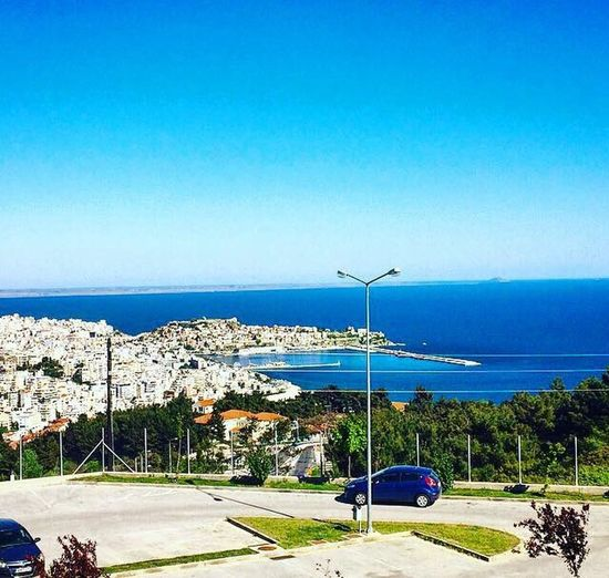 Kavala Greece Blue Sea Nature Clear Sky Sky Beauty In Nature No People Outdoors Photoshooting EyeEm Best Shots EyeEm Nature Lover Eye4photography  EyeEm EyeEm Gallery One Photo Eyeem GREECE ♥♥ Vew Vew From My Eyes