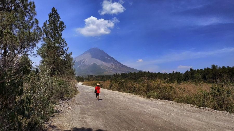 Adventure on Mount Merapi, an active volcano Landscape Mountain Mountain Range Mountain View Volcano Active Volcano Sky Cloud - Sky Nature Beauty In Nature Outdoors Plant Tranquility Tranquil Scene Adventure Travelling Travel Destinations Happy Time
