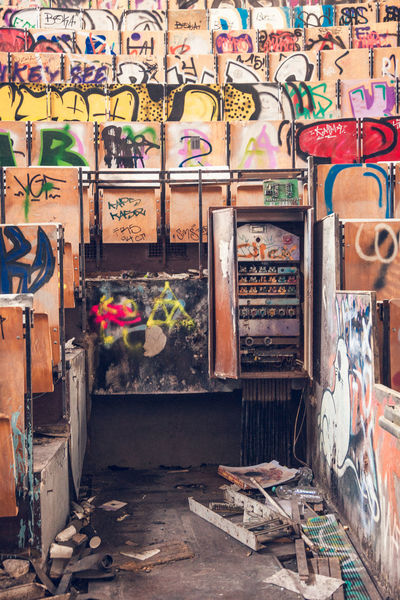 Lost Place Lost Places In Berlin Day Graffiti Indoors  Lostplaces Multi Colored No People Rotten Places