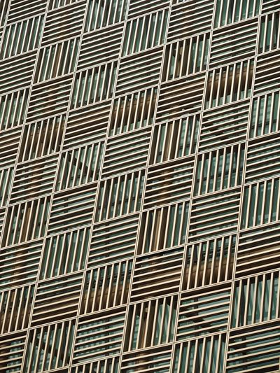 Squinting ASTIGmatism City Cross-Eyed Architecture Building Exterior Cladding Day Decorative Cladding Geometric Patterns Low Angle View No People Optical Illusion Pattern Slats Windows The Graphic City