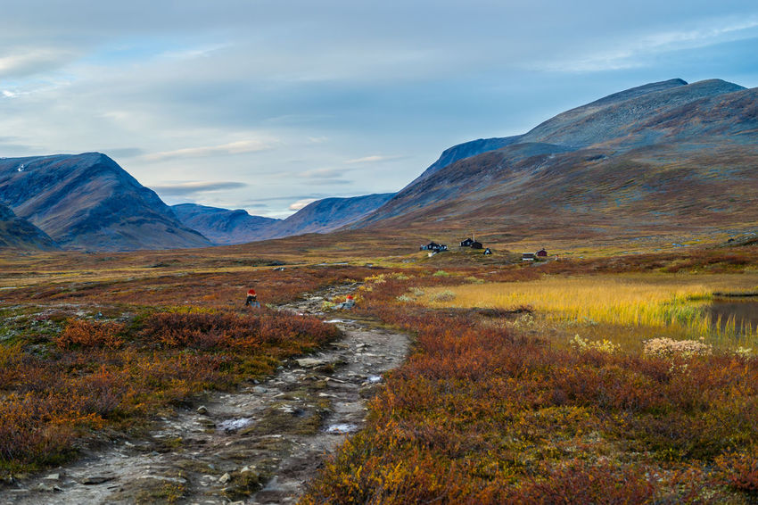 September hiking along The King's Trail in northern Sweden Autumn Blue Brown Cabin Cottage Europe Fall Beauty Hiking Kungsleden Landscape Laponia Mountain Nature Northern Europe Orange Outdoor Path Scandinavia September Sweden The King's Trail Trail Tranquility Travel Yellow