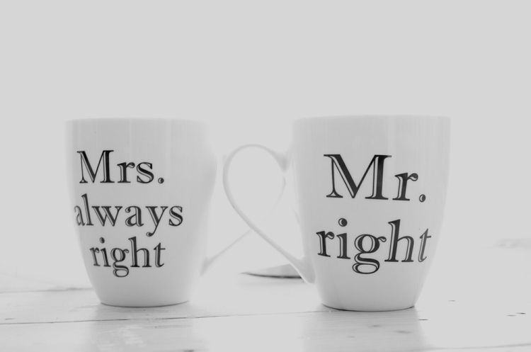 Better Together Mister Misses Always Cup Coffee High Key Nikon D5100  Nikon DSLR