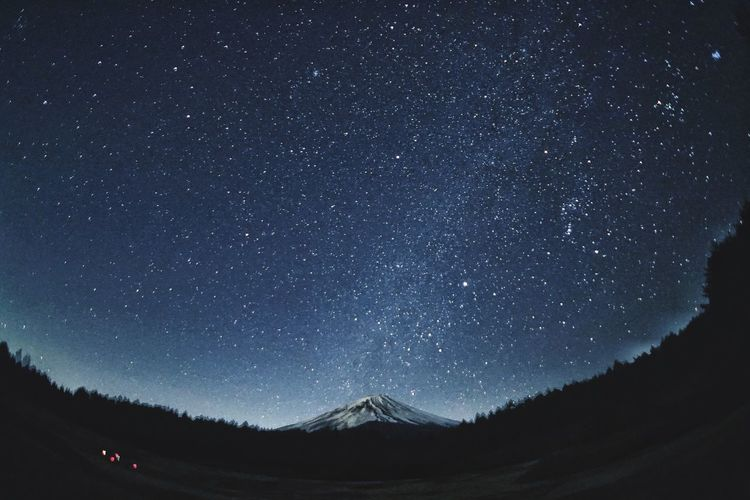 Mtfuji Eye Em Nature Lover EyeEm Best Shots Eyeemphotography Mountain Photography EyeEm Nature Lover Eyeemphotography Mtfuji Star - Space Night Astronomy Sky Scenics - Nature Space Galaxy Star Star Field Beauty In Nature Mountain Silhouette Land Moms & Dads