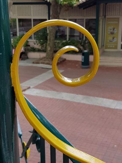 Close-up of yellow wheel
