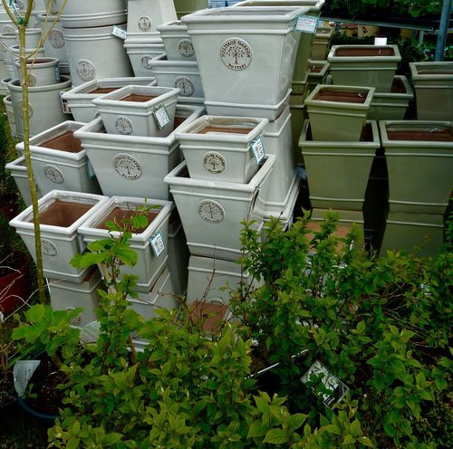Garden Centre Plant Pots Stacking Beautifully Organized