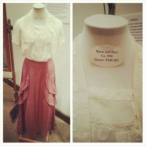 Beautiful dress. BooneCountyMuseum & Galleries Lifestyle circa 1910 in the USA MidWest History Victorian CoMo ColumbiaMo