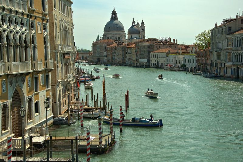 Santa Maria Della Salute By Grand Canal Against Sky