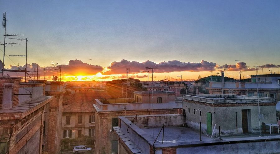 Roma Sunset Architecture Built Structure City Sky Outdoors Yellow No People Urban Skyline Sun Colors Of The Sky Day Dream Nature Rome San Saba