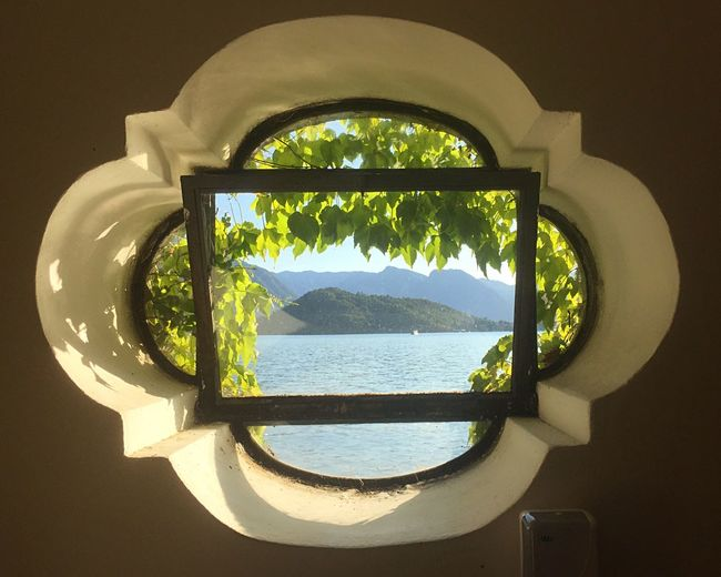 Water Nature Sunlight Day No People Window Reflection Sky Shadow Indoors  Sea Scenics - Nature Plant Tranquil Scene Beauty In Nature Tree