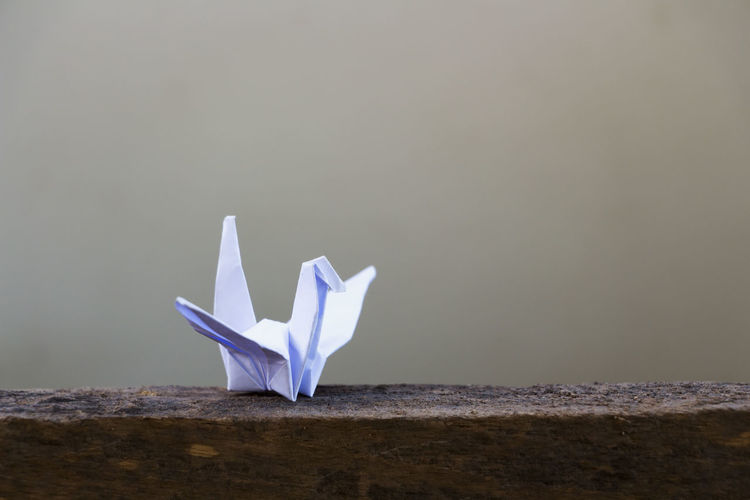 Low angle view of origami bird