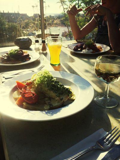 Dinner Having Fun Enjoying The Sun