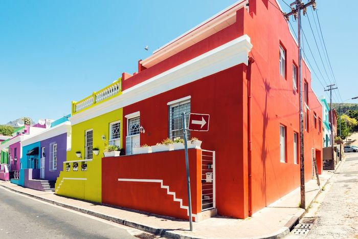 EyeEm Selects beautiful colorful houses at Bo-Kaap,Cape Town, South Africa Built Structure Day Outdoors Architecture Building Exterior No People Sunlight Clear Sky Sky Bo-kaap Cape Town Capetown Colorful Colorfull
