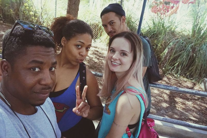 Birthday flex with Friends Friendship Pixxzo Los Angeles, California Live, Love, Laugh Sixflags Roller Coaster