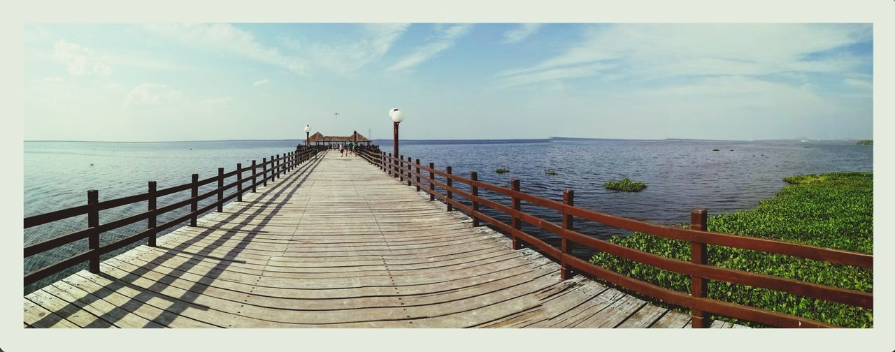 Puerto Suarez Water Horizon Over Water Pier Cloud Sky Tranquil Scene Tranquility The Way Forward Scenics Railing Calm Long Nature Day Narrow Cloud - Sky Beauty In Nature