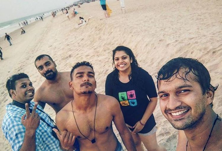 "Once a wise man said ""good friends don't let you do stupid things....alone"" Beachstart Beachgang Us Vday Chilling Whitesands Cold Evening Friends Friendship Bffs Groupshot Friendz GoaLife Goans Ilovegoa❤ Follow F4F Ahd Goa Mysociallife"