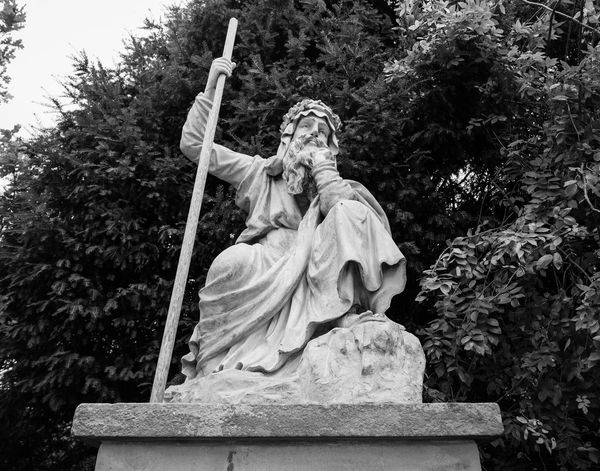 Sculpture Statue Human Representation Male Likeness No People Low Angle View Black And White Croome
