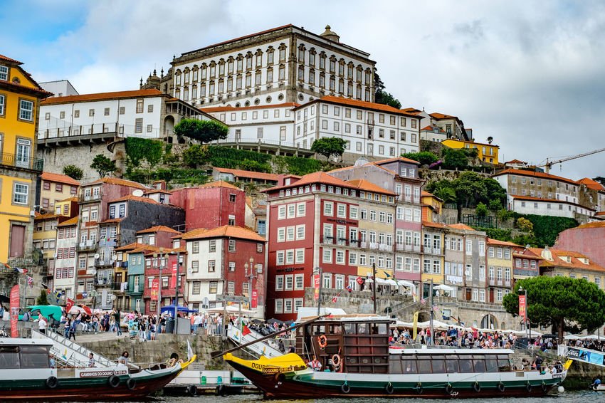 Building Exterior Built Structure Architecture Nautical Vessel Mode Of Transportation Transportation Sky Water City Nature Cloud - Sky Day Group Of People Building Crowd Travel Incidental People Large Group Of People Real People Outdoors Canal Passenger Craft River View River Douro