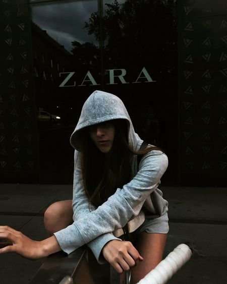 Zara Sitting Sadness Looking Down Only Women Lifestyles One Woman Only Depression - Sadness Disappointment Zara ❤ Fashion The Street Photographer - 2017 EyeEm Awards Urban Life Outdoors Model Photography