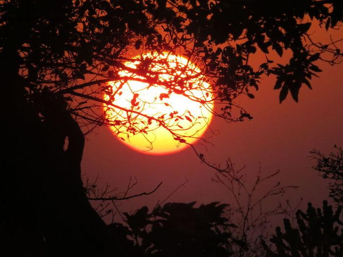 Balloffire Sunset Nature Naneghat Maharashtra Trek Art Of Nature