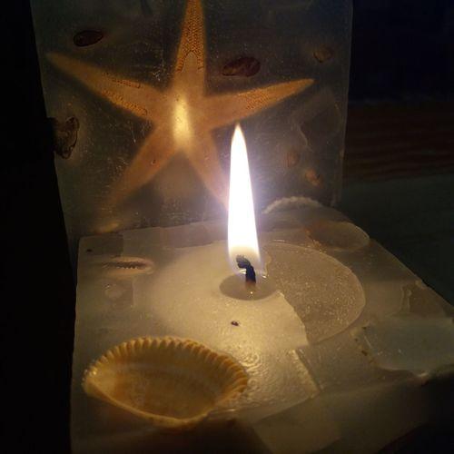 #candles #Night #sea
