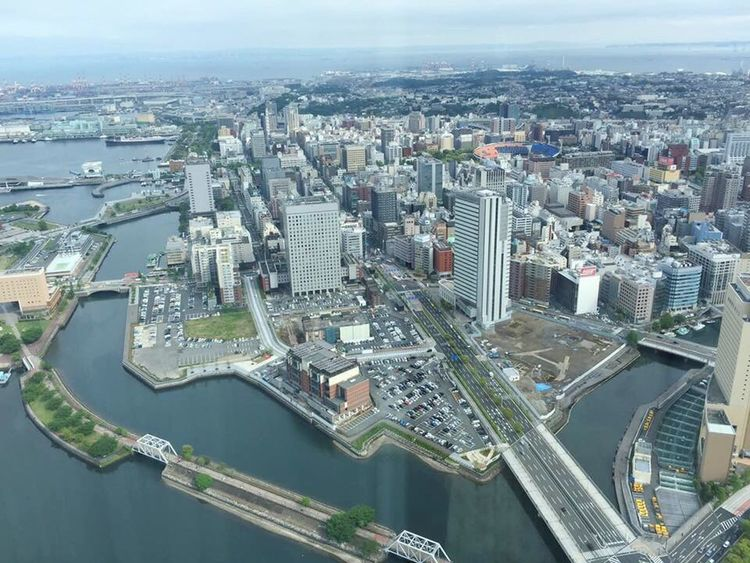Yokohama Aerial View City Cityscape Architecture Building Exterior Birdeyeview Outdoors No People Water Modern Downtown District Day Beautiful Organized
