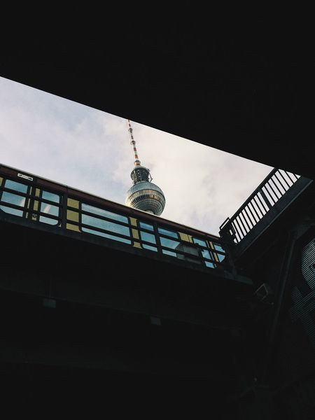 Low Angle View Architecture Built Structure Building Exterior No People City Tower Sky Outdoors Day Berlin Perspective