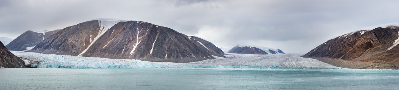 Scenic view of iceberg at canadian arctic.