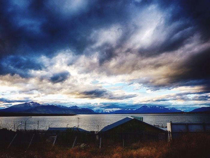 The sky over Puerto Natales, Patagonia Chile Cloud - Sky Nature Outdoors Beauty In Nature Landscape chile Mountain Sky Chile Naturelovers