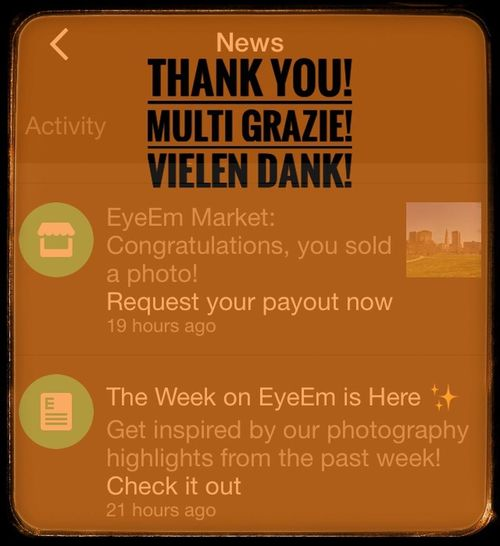 Thank you EyeEm for making this happen! It always makes for a good day when this message appears! Also, I checked out my photos on Getty! I love the curated way they present my images. Thank You for the exposure! Thank You EyeemTeam Text Internet No People