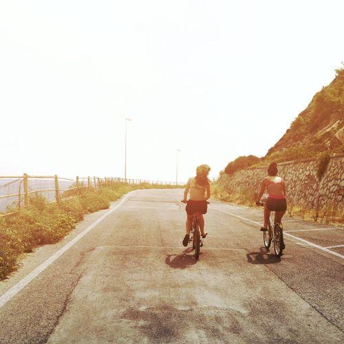 Ride Riding Bycicle Togheterness Friendship Road Men Full Length Biker