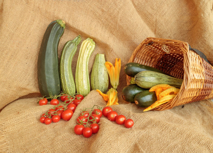 Close-up of vegetables in basket