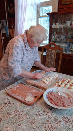 Senior Woman Preparing Food