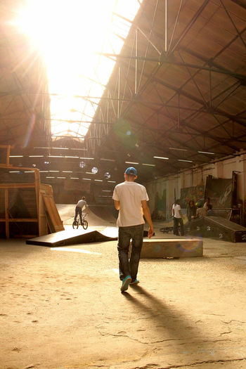 Bike Bike Park Bikers Built Structure Day Indoors  Industrial Building  Inspirational Sport Sportsman Street Sunlight Urban Young Adult La Traba Adapted To The City