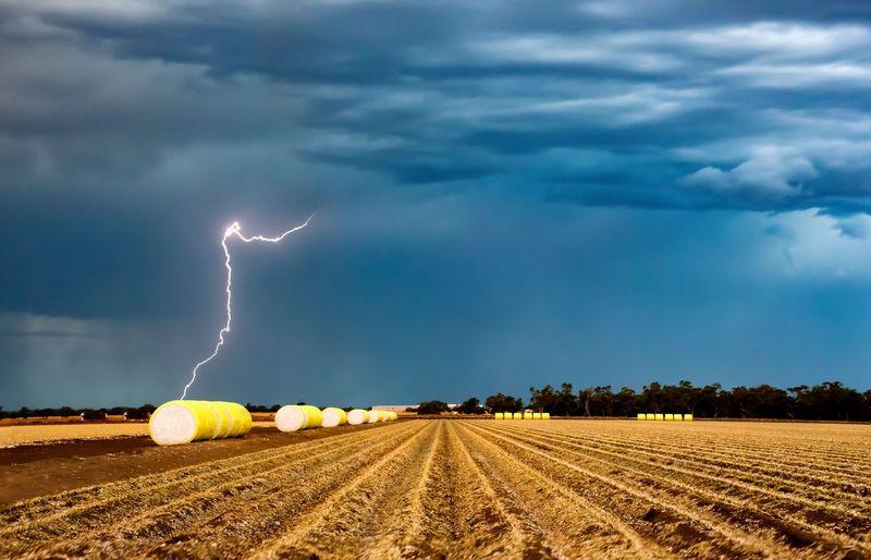 Storm Chasing Rural Scenes Cotton Farming Cotton Cloud - Sky Lightning Storm Sky Environment Power In Nature Thunderstorm Landscape Nature Storm Cloud Field