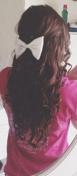 Bows make me feel classy as hell. Hair Curls ♡