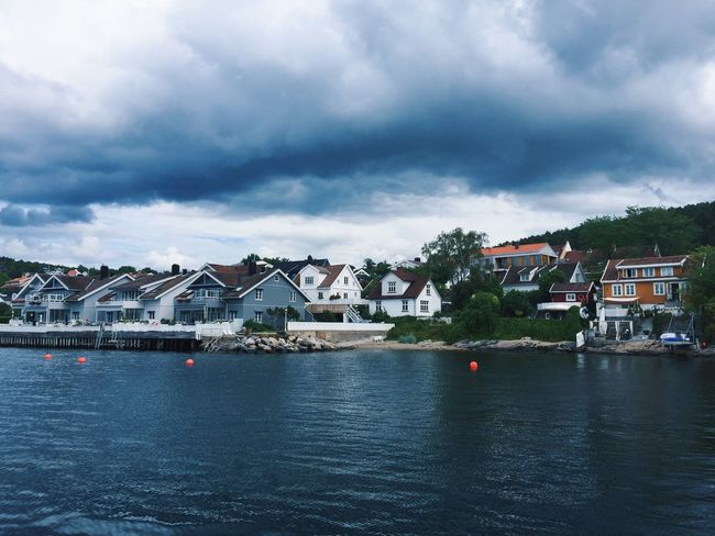 Drobak harbor and typical architecture Drøbak Drobak Norway Norway🇳🇴 Skyline Harbor Architecture Building Exterior Cloud - Sky House Water Waterfront Outdoors No People Day Town Scenics Storm Cloud Urban Landscape Cityscape Stormy Weather Houses Oslofjord Fjord Seaside