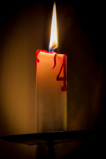 Fourth Sunday of advent Advent Burning Candle Christmas Close-up Dark Decoration Flame Glowing Home Interior Illuminated Indoors  Lighting Equipment Lit Metal Still Life